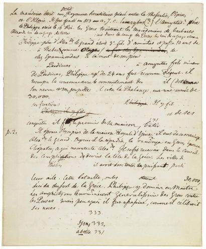 LAS CASES, EMMANUEL DE (1766-1842) Historien et mémorialiste français.