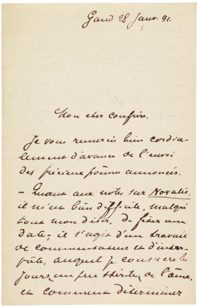 MAETERLINCK, MAURICE DE (1862-1949) Ecrivain français, prix Nobel en 1911.