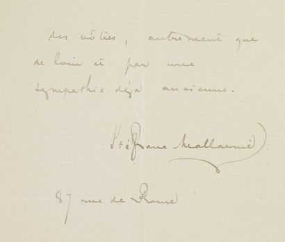 MALLARMÉ STÉPHANE (1842-1898) Poète parnassien, principal représentant du Symbolisme.
