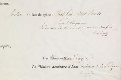 MARIE-LOUISE D'AUTRICHE (1791-1847) Impératrice des Français.