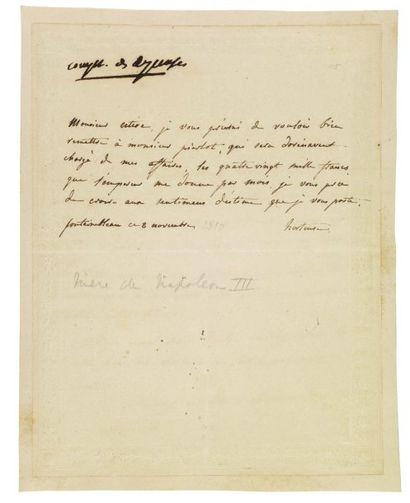 BEAUHARNAIS, HORTENSE DE (1783-1837) Fille de Joséphine, fille adoptive et belle-soeur...
