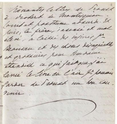 PROUST, AU SUJET DE MARCEL Lettre autographe...