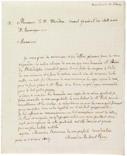 SAINT-PIERRE, JACQUES-HENRI BERNARDIN DE (1737-1814) Ecrivain français.