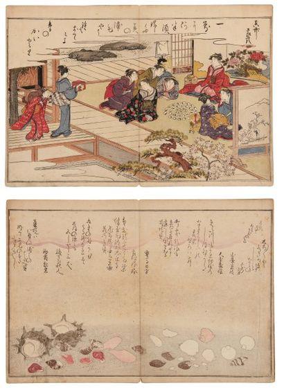 Utamaro Kitagawa (1754-1806) Shiohi no tsuto. Souvenirs de la marée basse 1 volume...