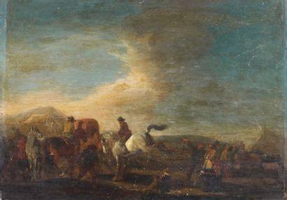 ECOLE HOLLANDAISE DU XVIIe siècle, SUIVEUR DE PHILIPS WOUWERMAN