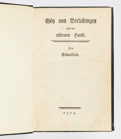 [GoeTHE, Johann Wolfgang von.]