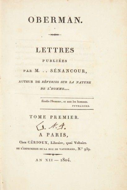 SENANCOUR, Étienne Pivert de