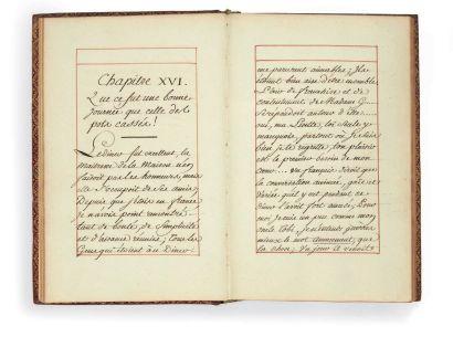[STERNE]. Julie de LESPINASSE Suite du Voyage sentimental. Sans lieu ni date [vers...