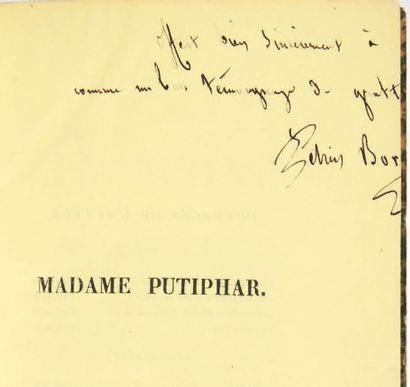 BOREL, Pierre Borel d'Hauterive, dit Petrus Madame Putiphar. Paris, Ollivier, 1839....