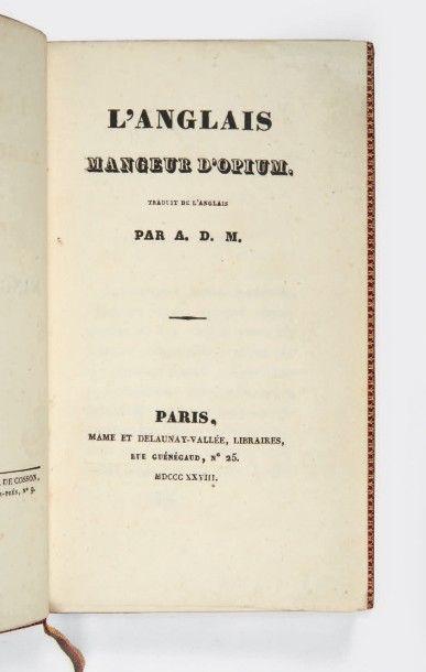 [MUSSET, Alfred de.] Thomas DE QUINCEY