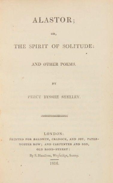 SHELLEY, Percy Bysshe