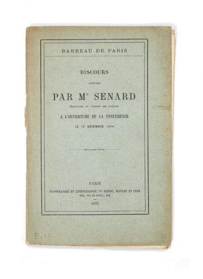 [FLAUBERT]. SENARD, Jules