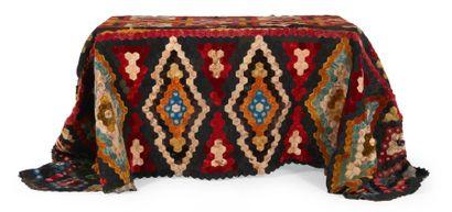 TAPIS DE TABLE en patchwork de velours sur...