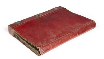 PORTE-DOCUMENT formant écritoire en maroquin...