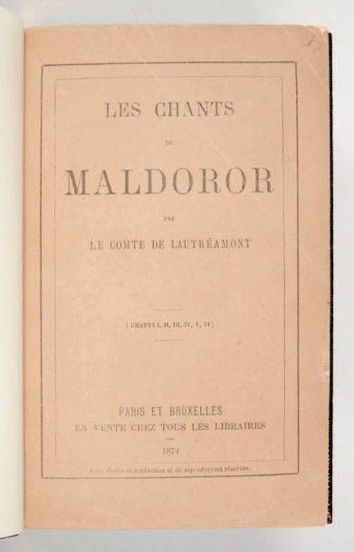 LAUTRÉAMONT (Isidore Ducasse, dit comte de)