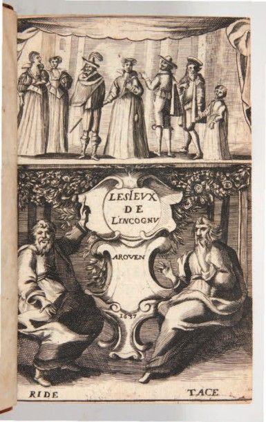 [CRAMAIL (Adrien de Montluc, Comte de)] Les Jeux de l'inconnu. Rouen, Jean Osmont,...