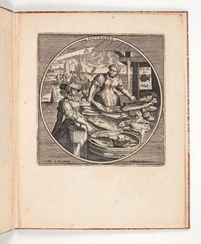 DE VOS (Martin) [Les Douze mois de l'année]. Sans lieu [Bruxelles?, Abraham Grimmer],...
