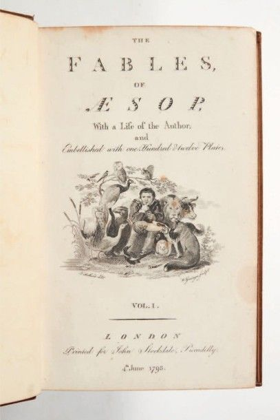 ESOPE The Fables of Æsop, with a life of the author: and embellished with one hundred...