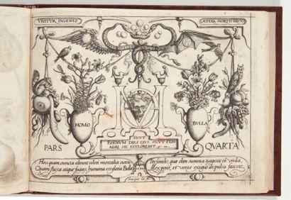 HOEFNAGEL (Joris) Archetypa Studiaque Patris Georgio Hoefnagelii. Francfort, 1592....