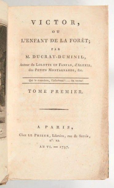 [ROMAN NOIR]. DUCRAY-DUMINIL (François-Guillaume)....