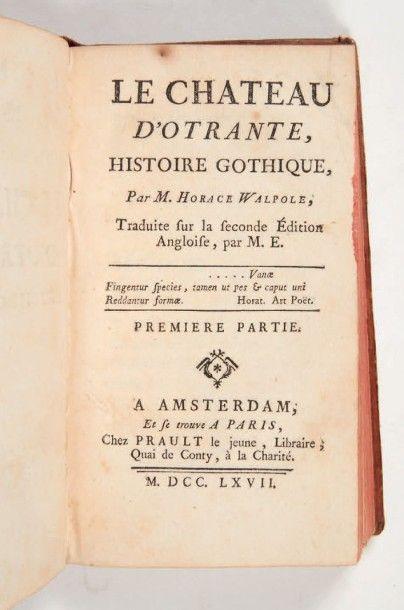 [ROMAN NOIR]. WALPOLE (Horace). Le Château...