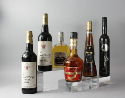 * 6 Bouteilles ALCOOLS ETRANGERS DIVERS :...