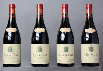 4 Bouteilles CLOS DE TART Grand cru Monopole...