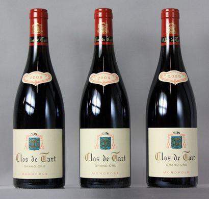 3 Bouteilles CLOS DE TART Grand cru Monopole...