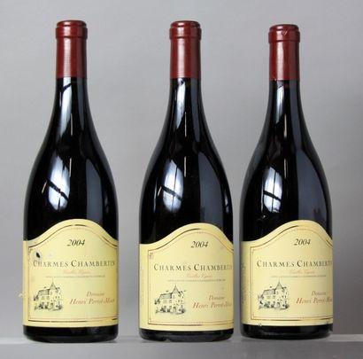 3 Bouteilles CHARMES CHAMBERTIN Grand cru...