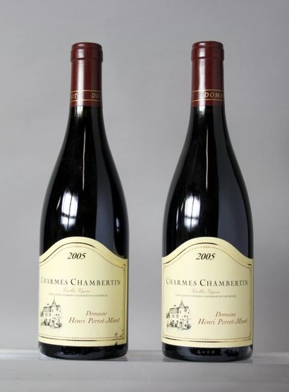 2 Bouteilles CHARMES CHAMBERTIN Grand cru...
