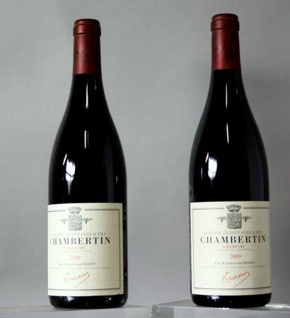 2 Bouteilles CHAMBERTIN Grand cru - TRAPET...