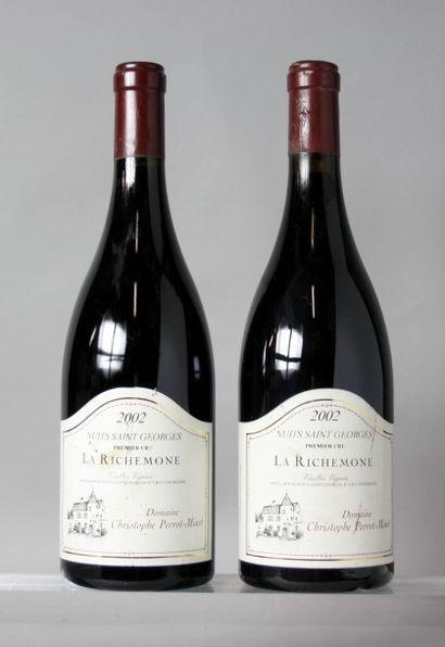 2 Bouteilles NUITS St. GEORGES 1er cru «La...