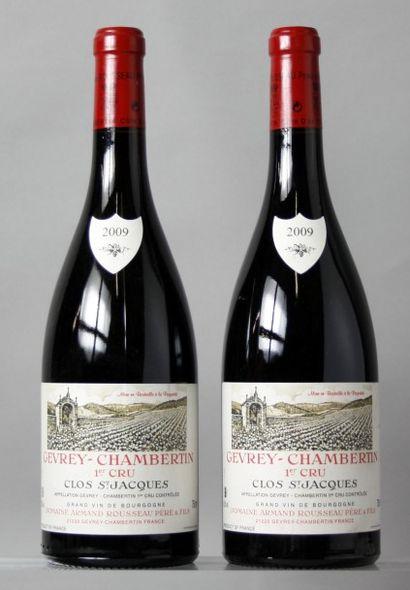 2 Bouteilles GEVREY CHAMBERTIN 1er cru «Clos...