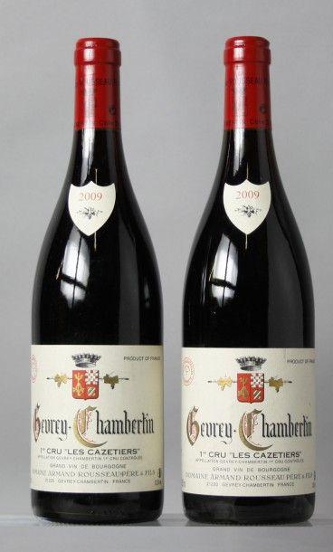 2 Bouteilles GEVREY CHAMBERTIN 1er cru «Les...