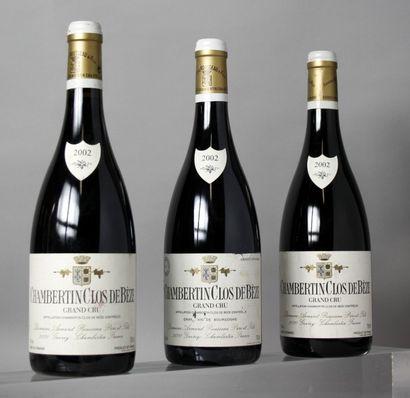 3 Bouteilles CHAMBERTIN CLOS DE BEZE Grand...