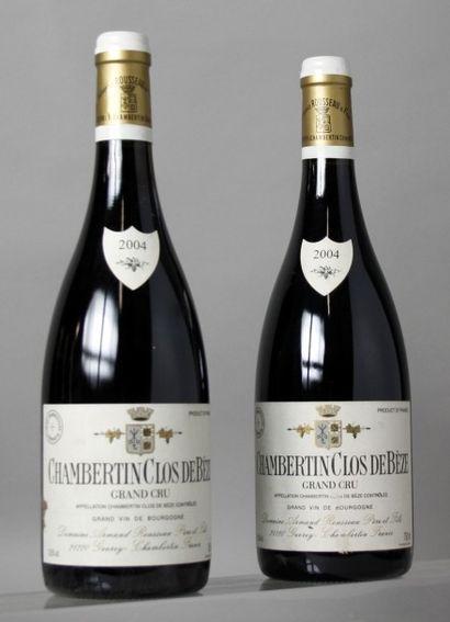 2 Bouteilles CHAMBERTIN CLOS DE BEZE Grand...