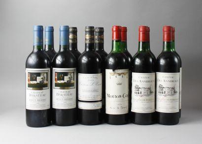 * 12 Bouteilles VINS ROUGES DE BORDEAUX :...