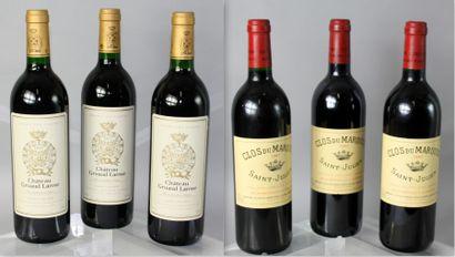 6 Bouteilles VINS DE ROUGES DE BORDEAUX 3...