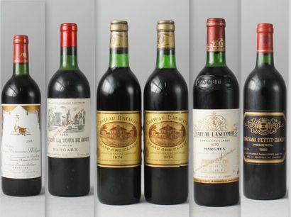 * 6 Bouteilles VINS ROUGES DE BORDEAUX :...