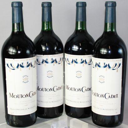 8 Magnums MOUTON CADET - Domaine de Rothschild...