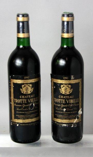 2 Bouteilles CHÂTEAU TROTTE VIEILLE GC -...