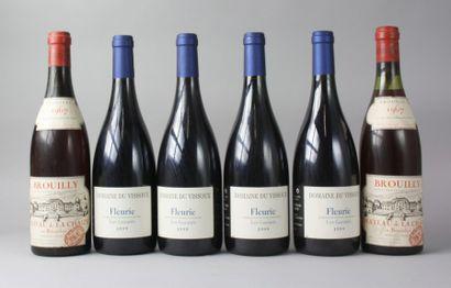 * 6 Bouteilles VINS DE BEAUJOLAIS : 2 BROUILLY...