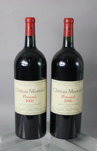 3 Magnums CHÂTEAU MONTVIEL - Pomerol 2000...