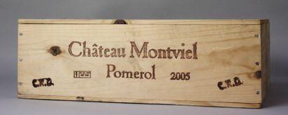 3 Magnums CHÂTEAU MONTVIEL - Pomerol 2005...