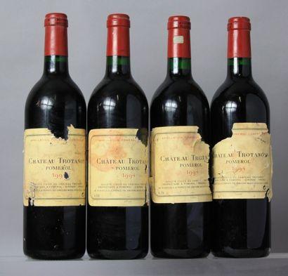 4 Bouteilles CHÂTEAU TROTANOY - Pomerol 1994...