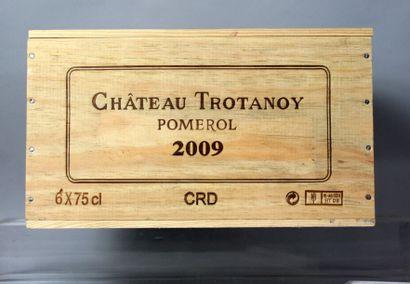6 Bouteilles CHÂTEAU TROTANOY - Pomerol 2009...