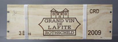 3 Bouteilles CHÂTEAU LAFITE ROTHSCHILD 1er...