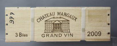 3 Bouteilles CHÂTEAU MARGAUX 1er GCC - Margaux...