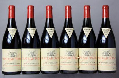 6 Bouteilles CHÂTEAUNEUF DU PAPE - CHÂTEAU RAYAS 2007