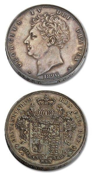 Grande Bretagne George IV (1820-1830): couronne...